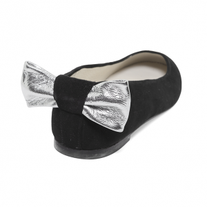 bailarina escotada terciopelo negro