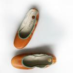 Bailarinas Piel Naranja Envejecido