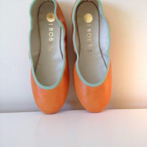 bailarina piel naranja butano hechas a mano