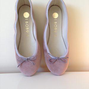 bailarina terciopelo rosa hechas a mano