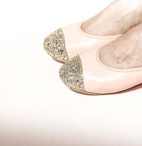Bailarinas Piel Puntera Glitter