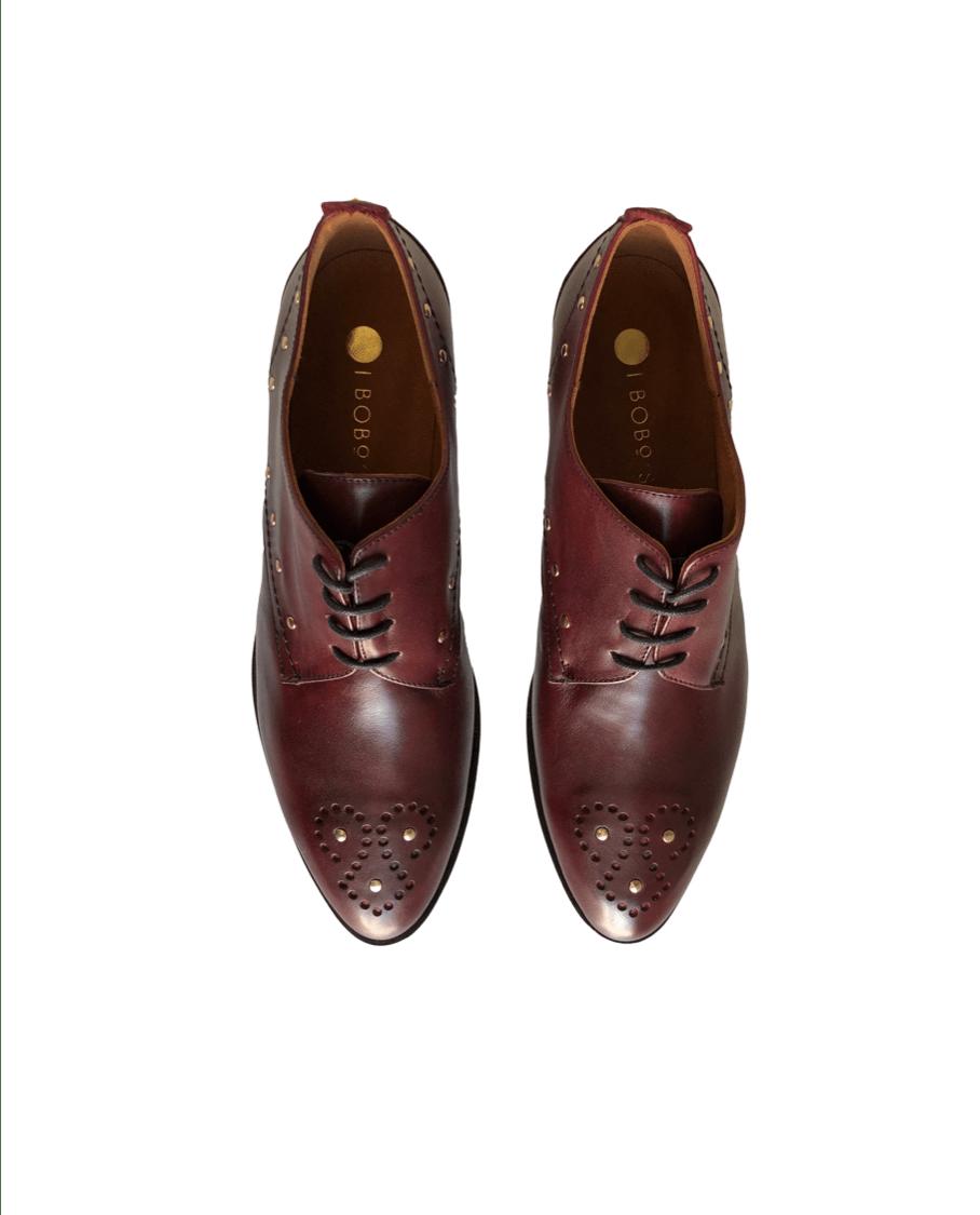 Zapato Blucher Granate Tachuelas