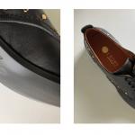 Zapato Cordones Piel Negra Suela Cuero