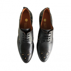Zapato Cordones Piel Negro