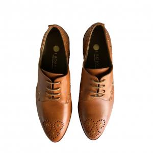 Zapato Cordones Piel Tabaco
