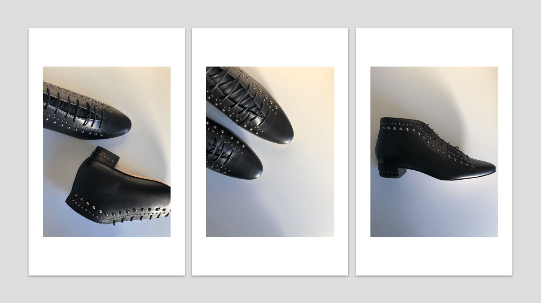 Botines negros tachuelas
