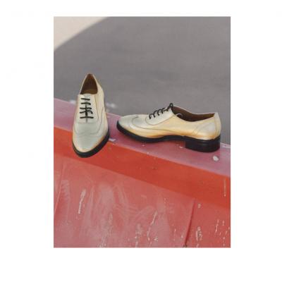 Zapato Oxford Dorado Mujer