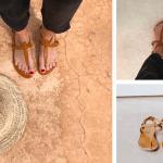 Sandalia Esclava Cuero Natural