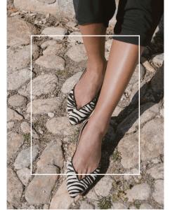 Bailarina Animal Print Pelo Cebra