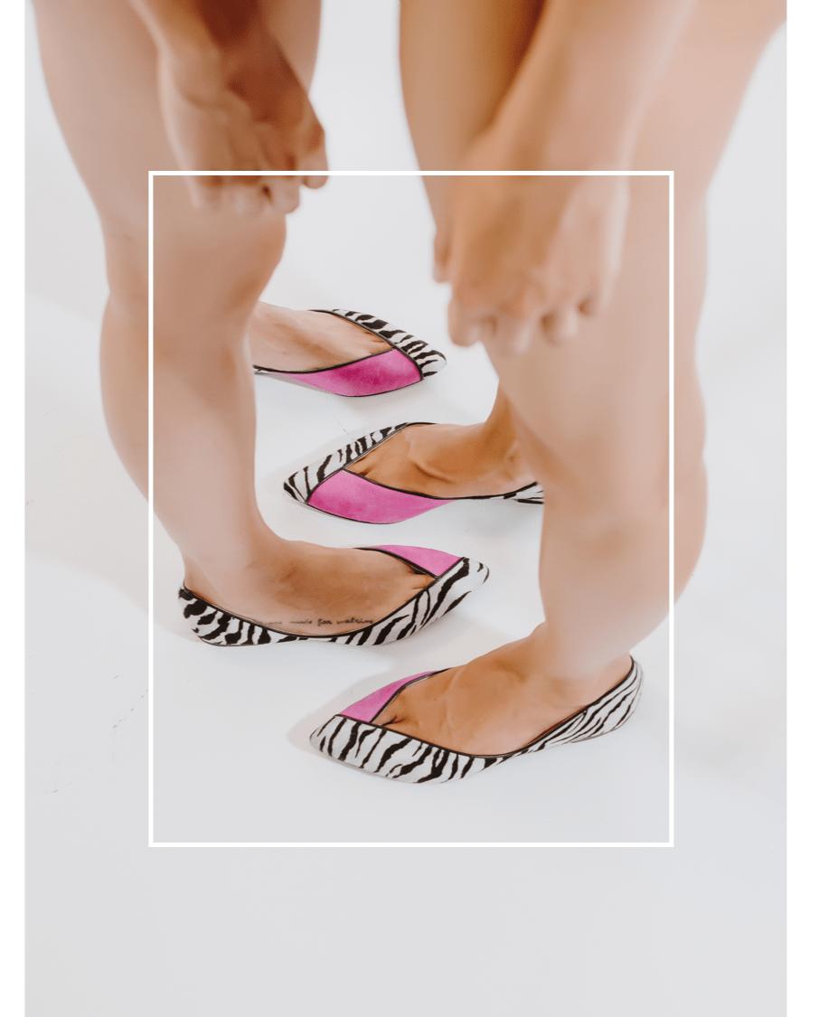 Bailarina Animal Print Gris_Pink_Cebra