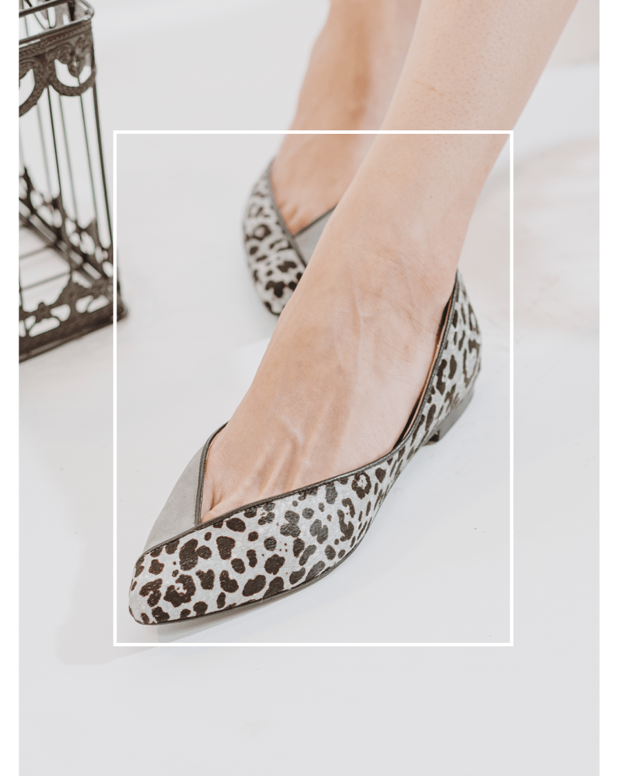 Bailarinas Animal Print Leopardo Gris