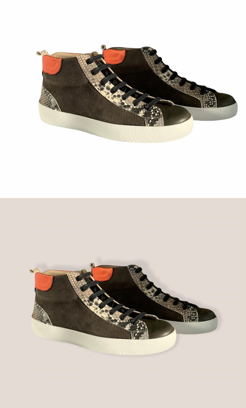 Sneakers Bota Serpiente Piel 1