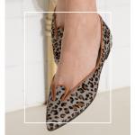 Bailarinas Animal Print Grey Leo