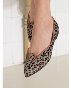 Bailarinas Animal Print Grey Leo