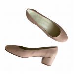 Zapato Tacon Medio Nude Piel