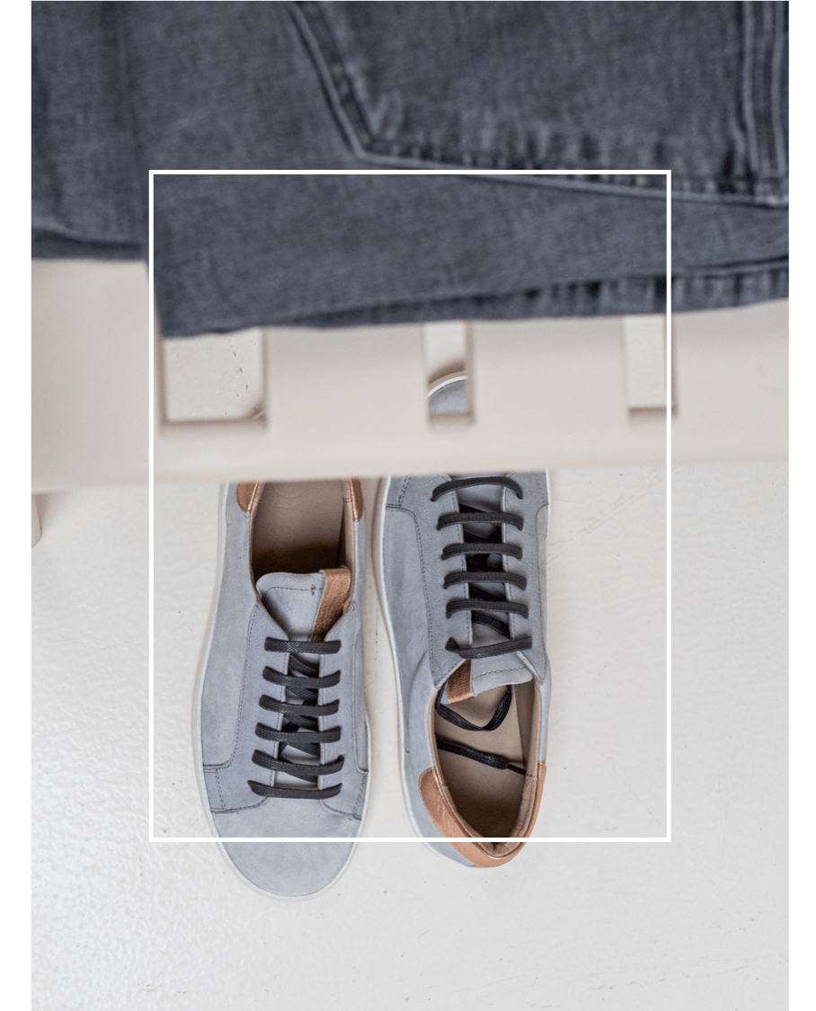 Zapatillas Ante gris mujer