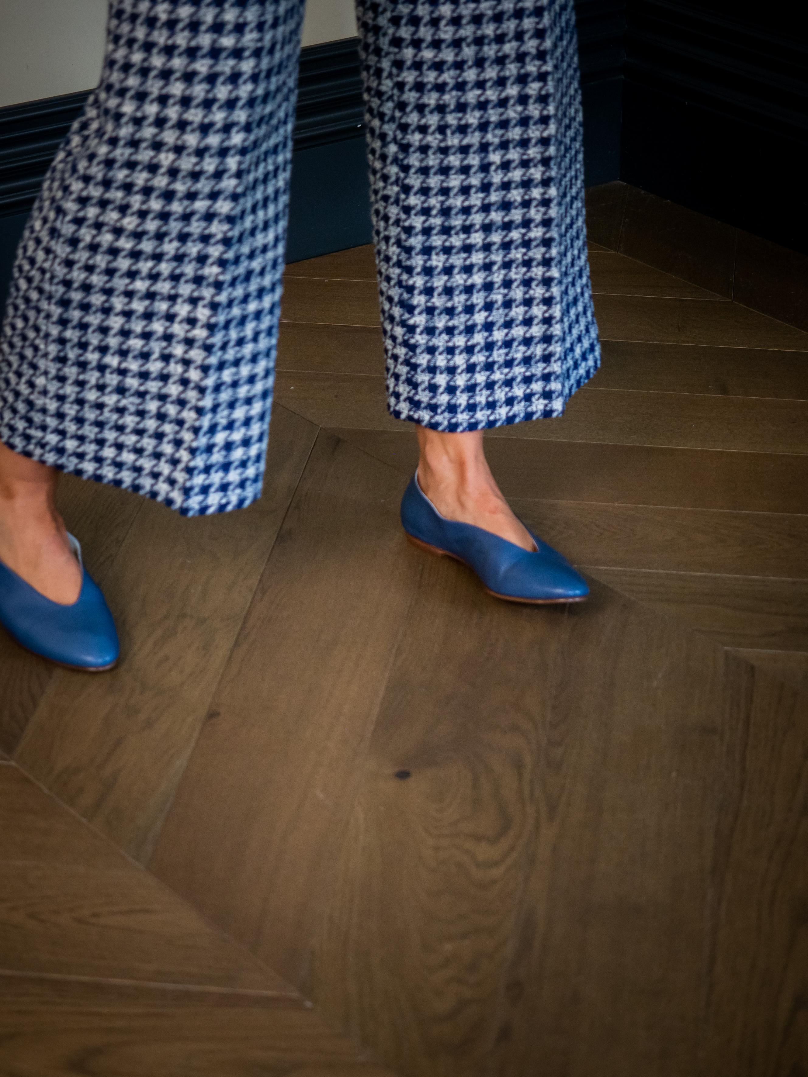 Bailarinas piel azul marino mujer