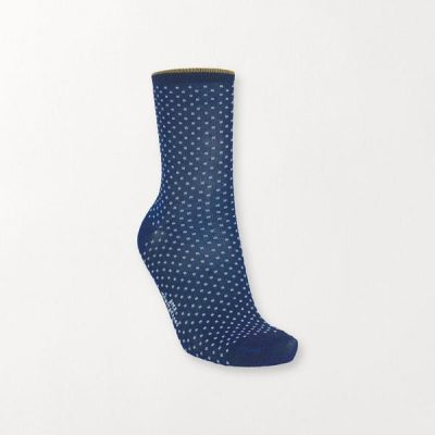 Calcetín Lunares Azul Lurex