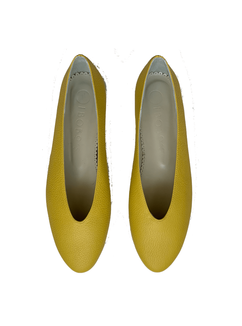 Bailarina Mujer Piel Amarillo Limón