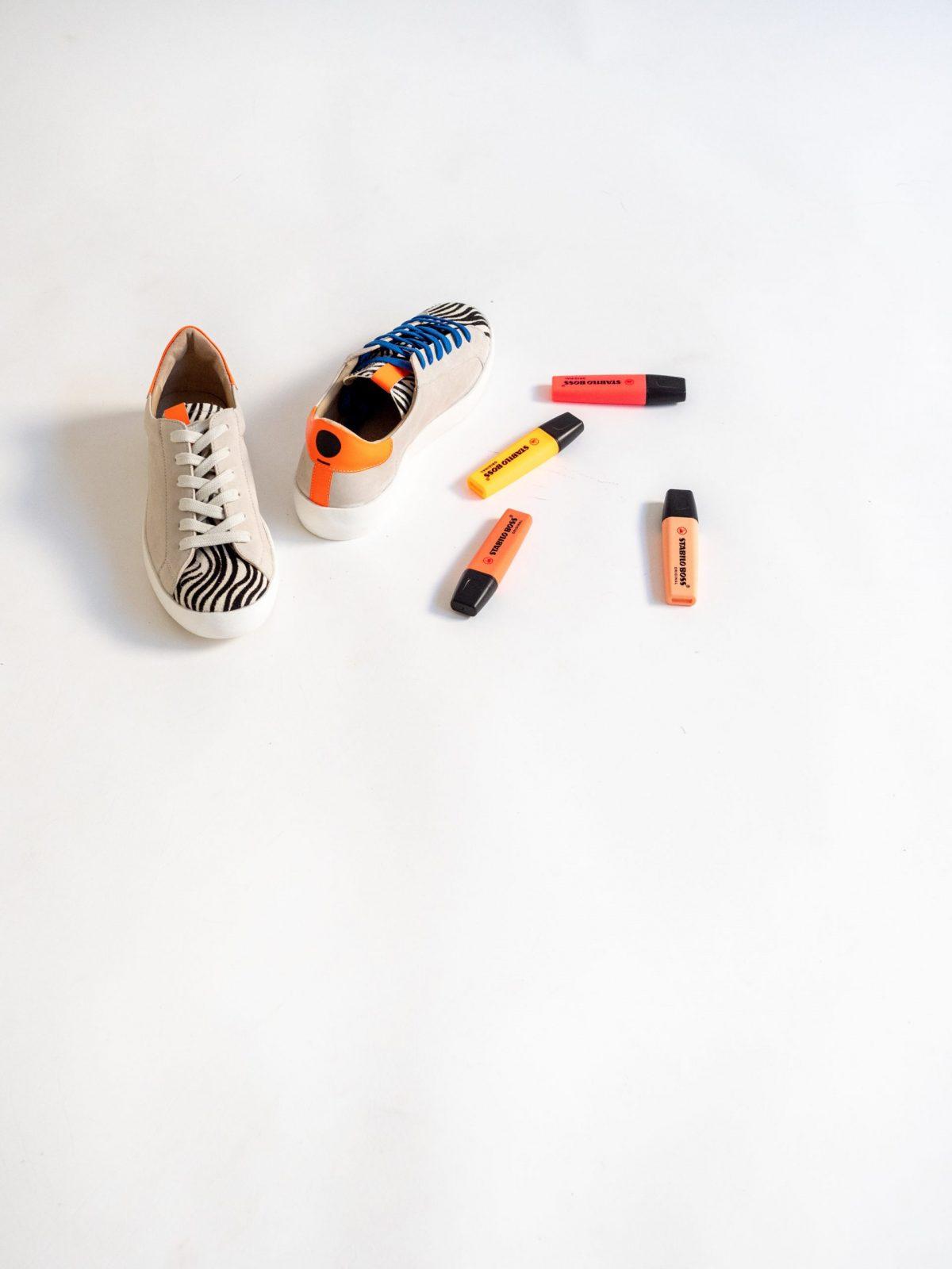 Sneakers Mujer Fluor Naranja