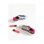 Sneakers Golden Goose Cebra Rosa flúor