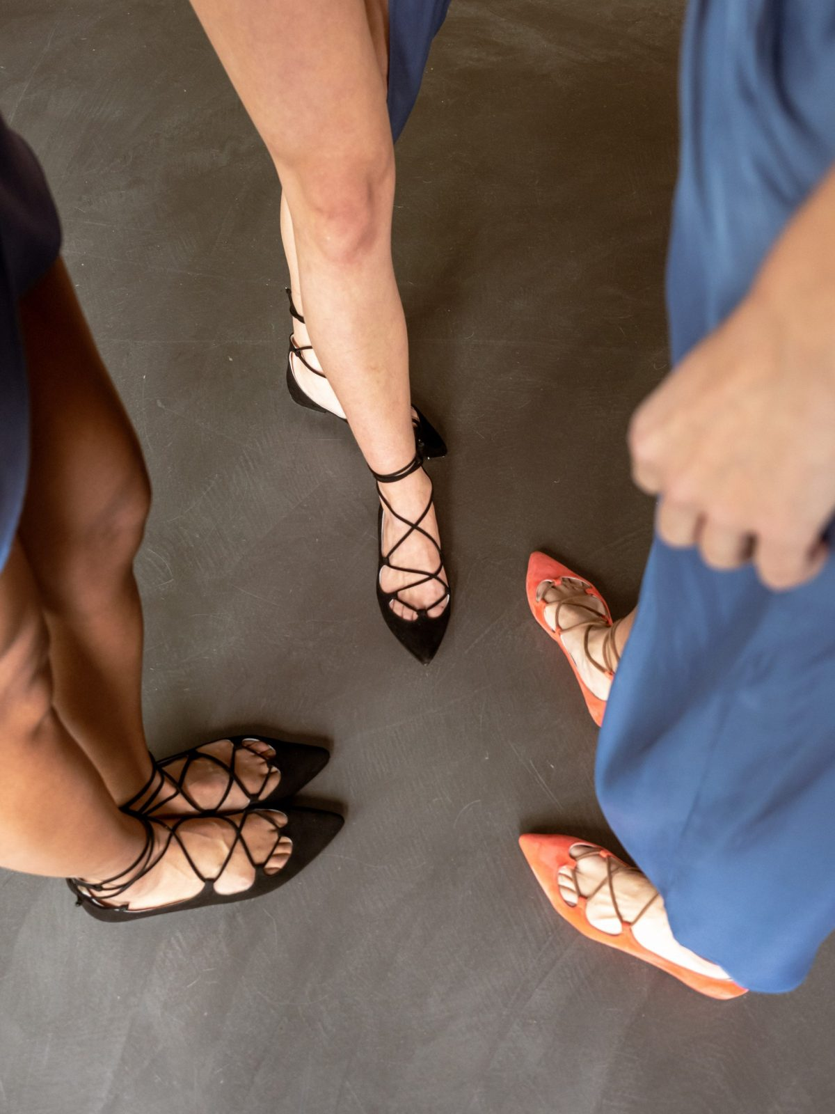 Bailarinas Ante Negro tiras tobillo Iggy