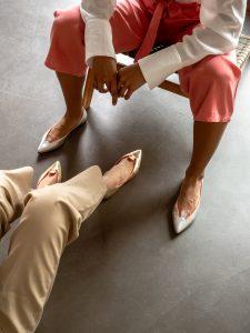 Bailarinas Doradas Mujer Piel