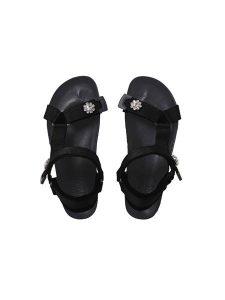 Sandalia tiras velcro negras