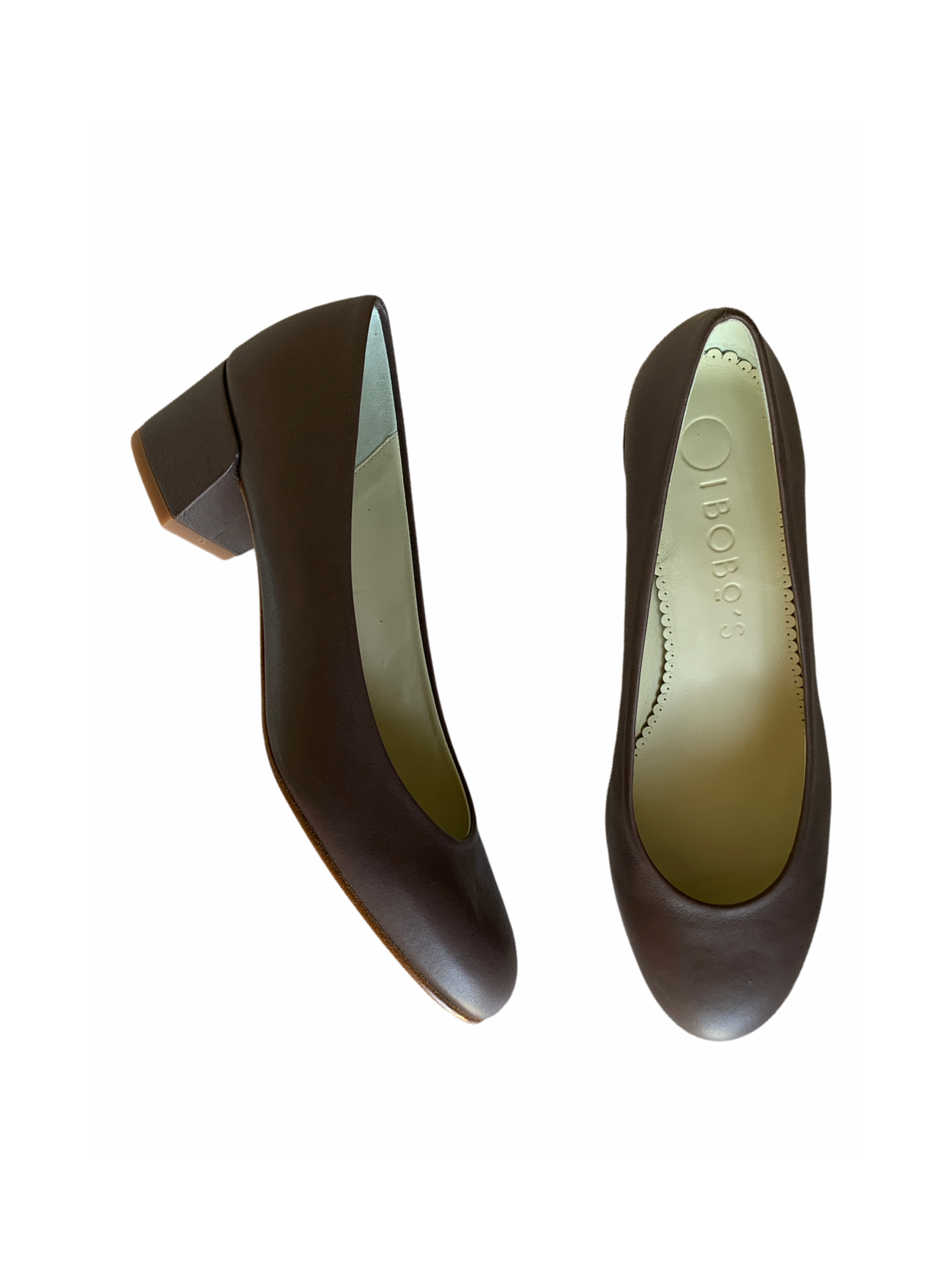 Zapato Tacon medio Vison piel