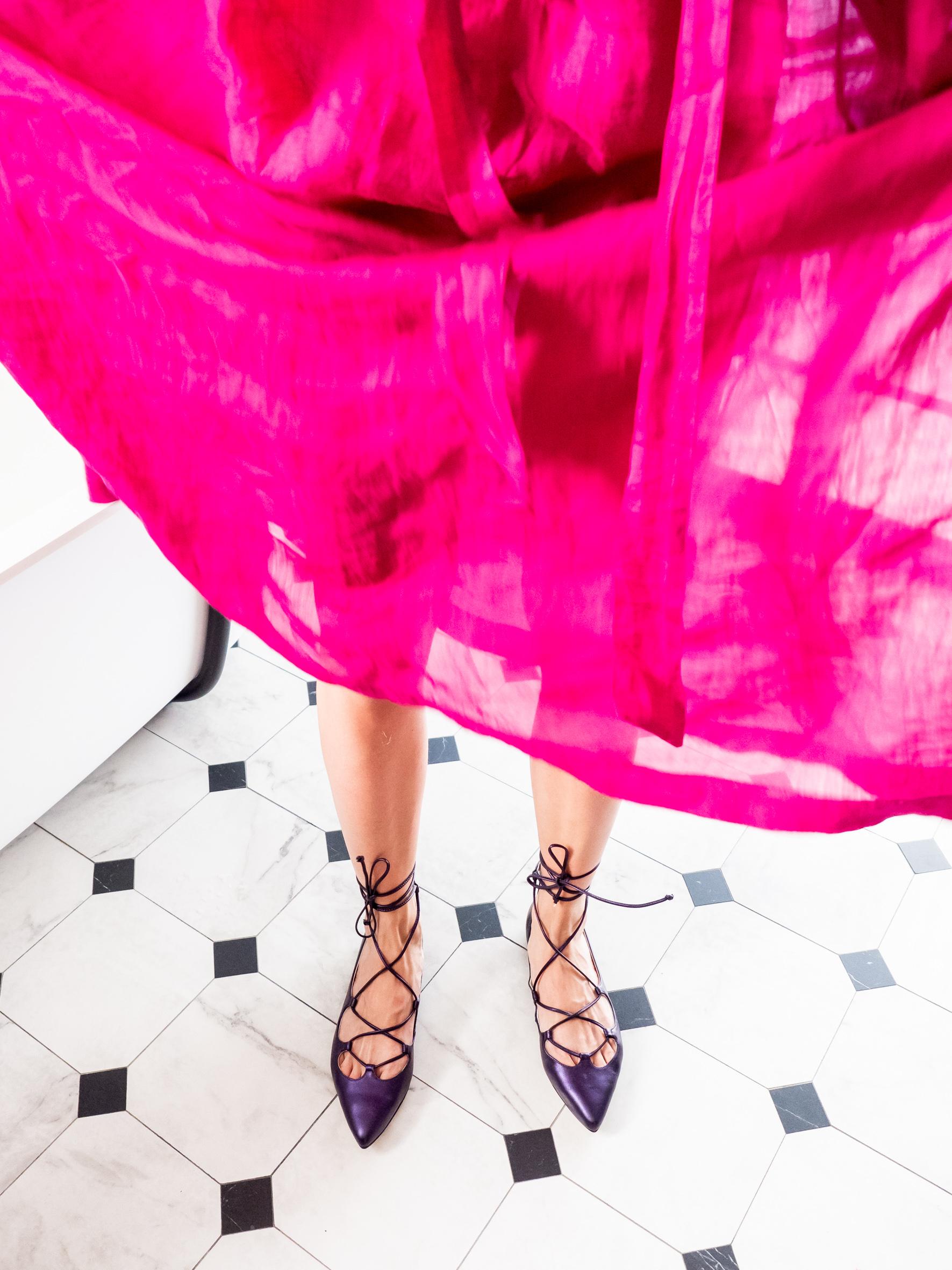 Bailarinas Cuerdas Piel Violeta Mujer